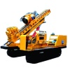 High efficiency percussive ground anchor drilling machine