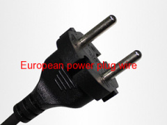 European two power plug cord