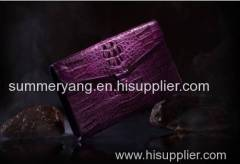 2015 New Business Crocodile Leather Handbags High-end Custom Luxury Large Capacity Card Handbag