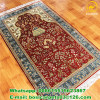 3x5 red color prayer rug pure silk 260lines handmade carpet pray