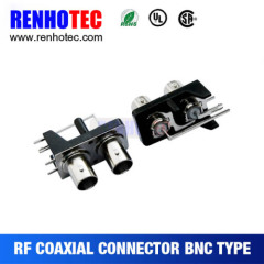 Right Angle BNC To RCA Jack Connector In One Row