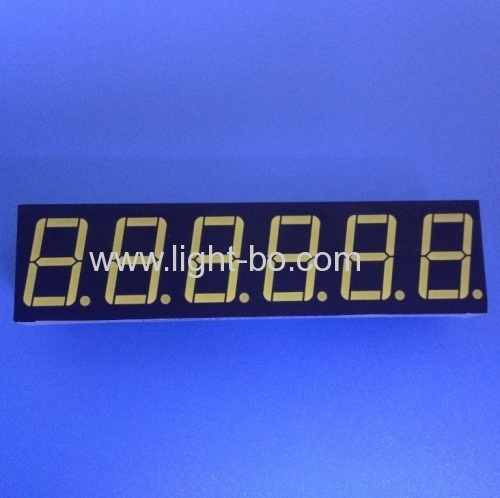 OEM ultra white 6 digit 0.56  common anode 7 segment led display for digital counter