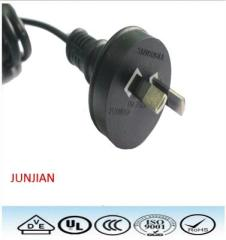Australia standard 3 pin power plug 3 core power cord with SAA approval