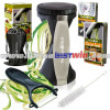 Premium Vegetable Spiralizer Bundle - Spiral Slicer - Best Veggie Zucchini Spaghetti Pasta Maker - Black