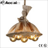 American droplight UFO line chandelier industrial style lighting Fabric pendant lamp Round ball lighting