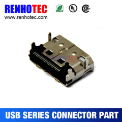 PCB Mount R/A USB 3.1 C Type 19 Pin Female Plug Assembly Connector Price