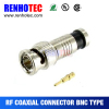 China supplier bnc connector male compression rg59 cable connector