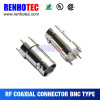 Custom made straightmale pin connector terminal rf connectors for cctv system