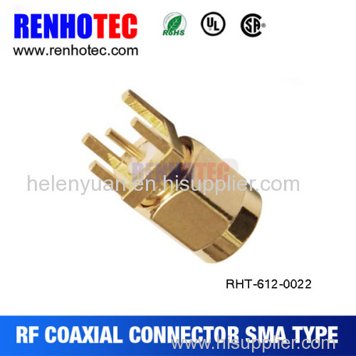 SMA Plug connector Blukhead PCB Mount rf connector threaded connecting