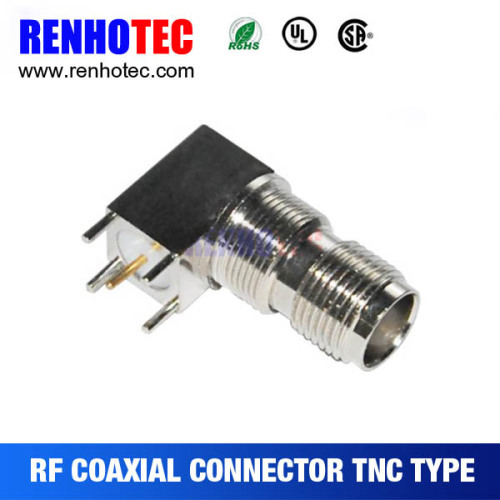 90 Degree TNC Female Jack PCB Mount Connector