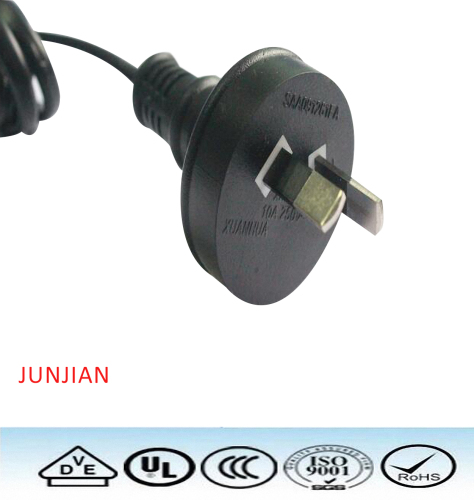 SAA 10A 250V australia power cord with plug