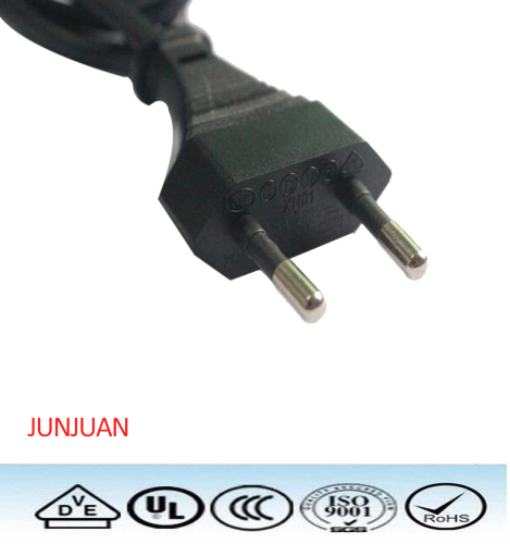 Professional Europe 2pin power plug cord manufacturers