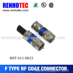 Good quality rg6 compression f connector with RoHS approval
