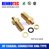 End Launch PCB Mount Bulkhead SMA Female RF Coaxial Connector Straight
