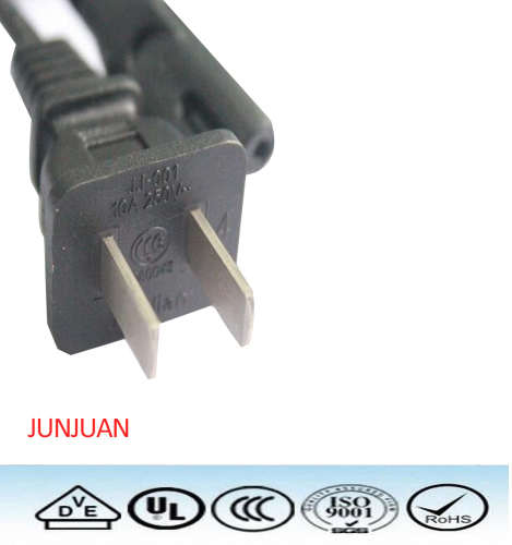 CCC 2pin 250V power plug cable