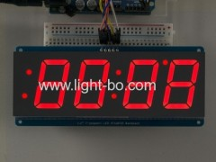"Ultra red 4 digit 1.2"" 7 segment led clock display for digital clock indicator"