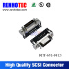 D-sub cn type 68 pin female SCSI connector