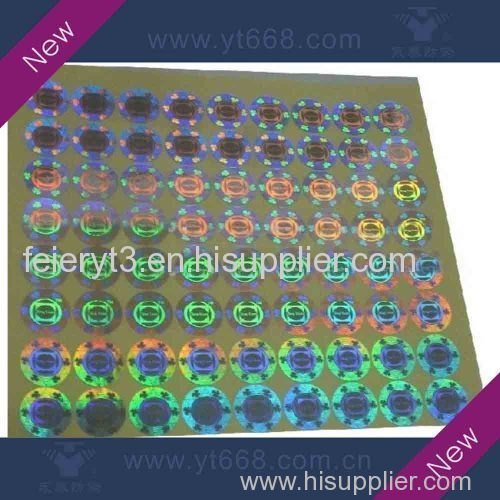 custom design laser hologram packaging sticker