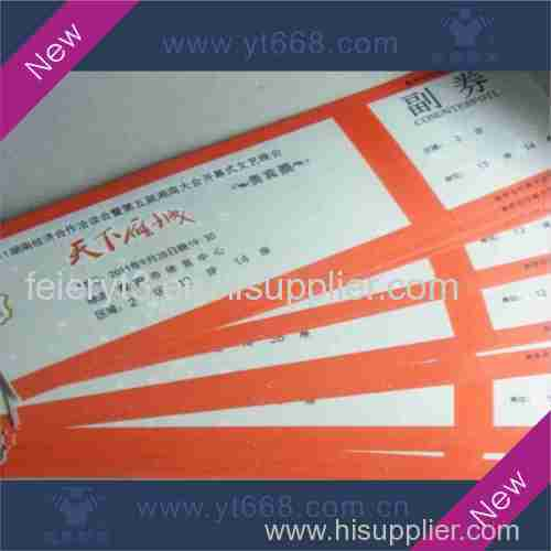 anti-fake security tickets with watermark or hot stamping