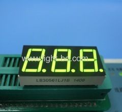 "Super green 3 digit 0.56"" 7 segment led display common cathode for instrument panel indicator"