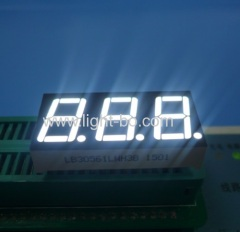 Ultra White 0.56 inches common cathode 3 digit led display for air conditioners