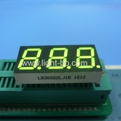 "Common cathode super bright green 0.56"" triple digit 7 segment led display for digital instrument panel"