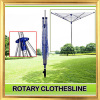 4-Arm Adjustable Garden Use Rotary Clothes Dryer