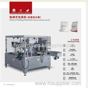 Stand-up With Zipper Pouch Packaging Machine