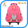 Kids cute trolley school wheel backpack bag
