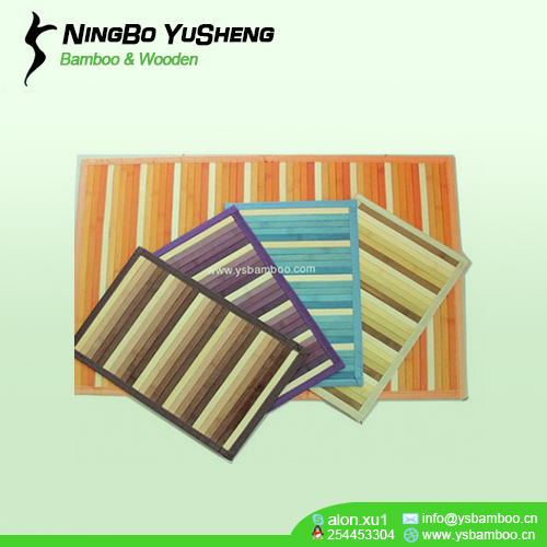 grain color bamboo table mat
