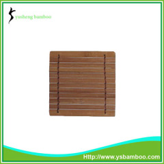 Weaving design bamboo cup coaster