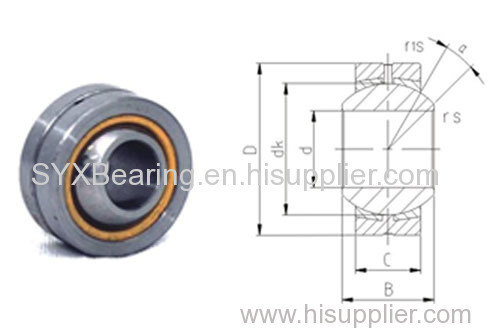 Spherical plain bearing made of carbon steel and with bronze liners-Inner ring is made of carbon chromium steel