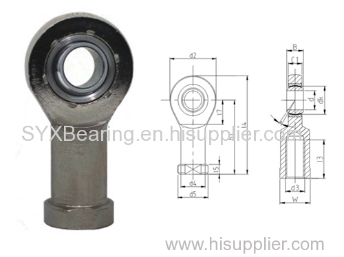 Maintenance free rod end bearing consisting rod end body and self lubricating spherical plain bearing GE..C.