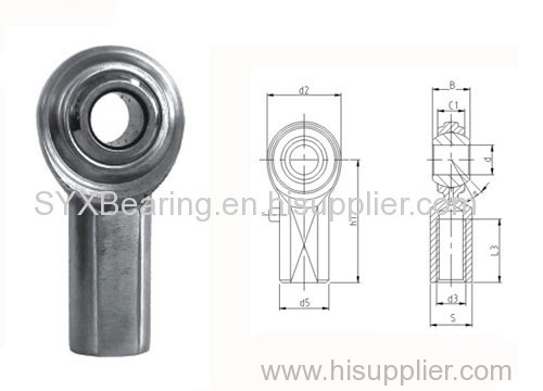 2-Piece rod end with carbide steel body zinc plated- pressed around inner ring;
