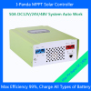 CE RoHS SMART1 MPPT 48V 50A solar charge controller 50A 48V PV regulator MPPT 50A with RS232 Lan DC