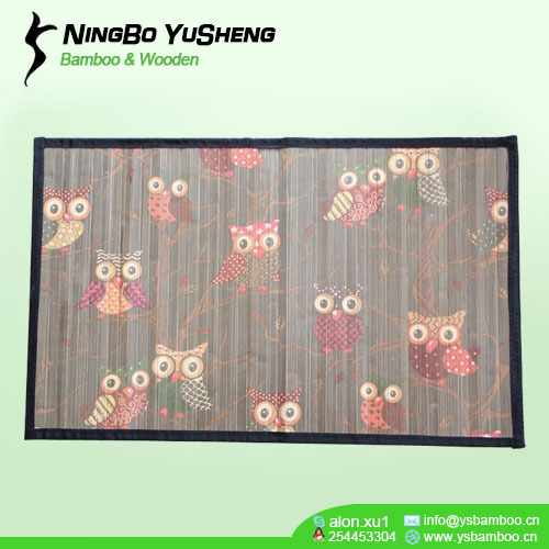 High quality printing design bamboo rug