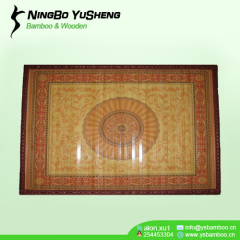 painted printing design prayer bamboo rug