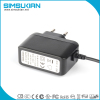 EU plug 12v2a wall mount ac dc adapter with CE FS FCC ROHS