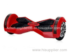 Red Bluetooth and wheel lights two wheels chargeable electric self-balancing scooter