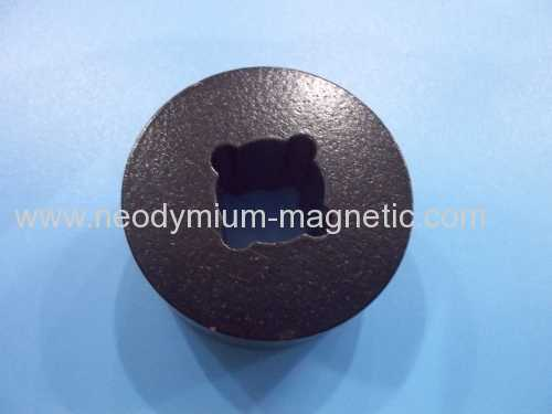 epoxy coated ring bonded magnet with irregular hole