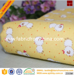 China wholesale supplier 100% Cotton Flannel Fabric for baby cloth