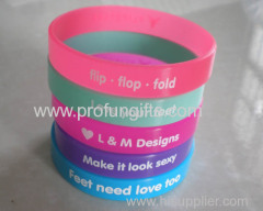 Factory direct sales eco-friendly fashion engraved silicone bracelet