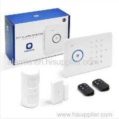 Touch keypad design Android/ iOS APP remote control home security intruder Alarm RFID SMS wireless GSM alarm system