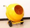 Mobile Electrical Wheelbarrow-style Mini Cement Mixer with 120L Polydrum and Solid Frame