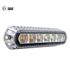 "18W 5.5"" ECE R65 SAE J845 LED Strobe Emergency Warning Light Chrome Plating Housing"