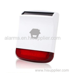 Exclusive home security alarm system sensors long range transmission 110dB Wireless outdoor Solar-Powered strobe siren