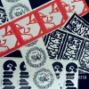 High Quality Permanent Adhesive Sticker Destructible Vinyl Security Label Stickers Eggshell Graffiti Sticker