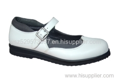 leather comfort lady shoes