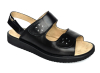 leather wide diabetic sandal