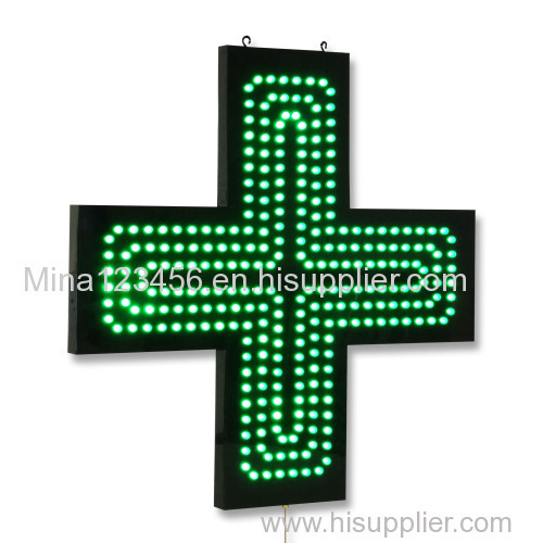 Outdoor P12.5mm pharmacy cross single/double/full color led display